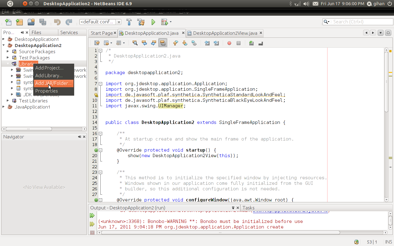 How to change the theme of a java GUI Application (Java look